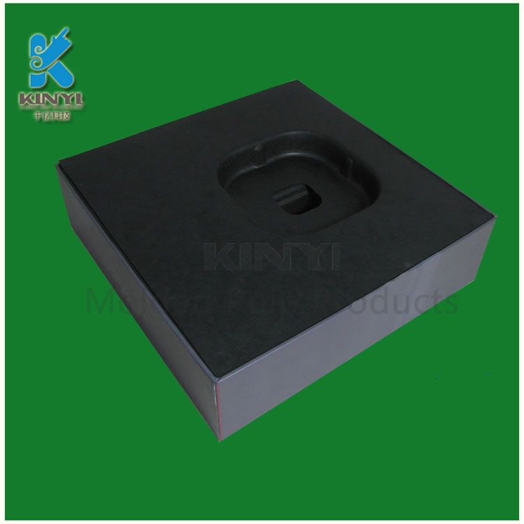Black Color Paper Pulp Inserts with Matching Outer Boxes