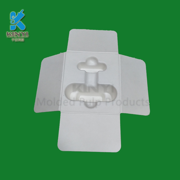 Custom biodegradable molded pulp doorbell paper packaging