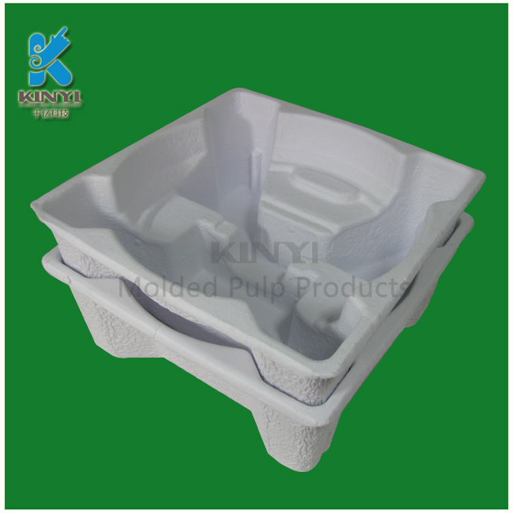 OEM Thermoformed A4 Paper Molded Pulp Packaging trays