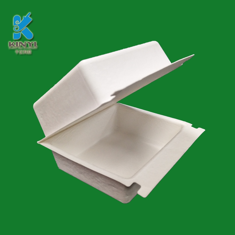 Custom molded paper pulp box packaging